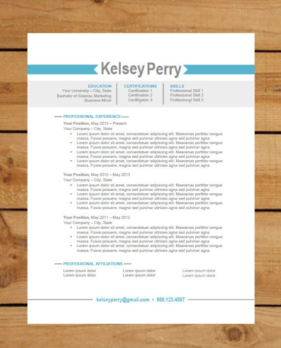 Resume Template Package Instant Download Microsoft Word Document