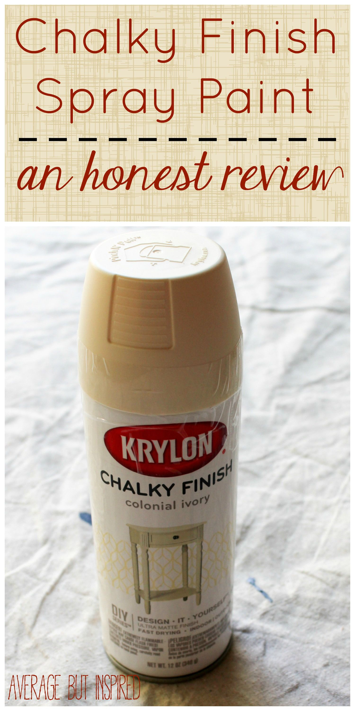 An Unbiased Review Of Chalky Finish Spray Paint