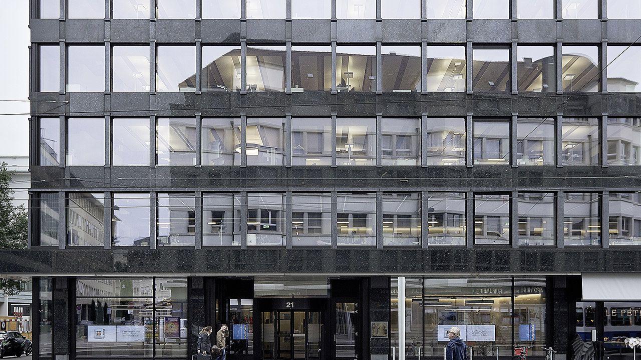 Fassade Architektur bleicherweg 21 in zürich pfosten riegel fassade architektur