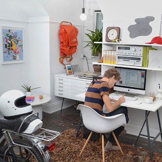 Beau Office Studio, An Overlap Between Art And Design: The Home Studio Of Andrew  Neyer