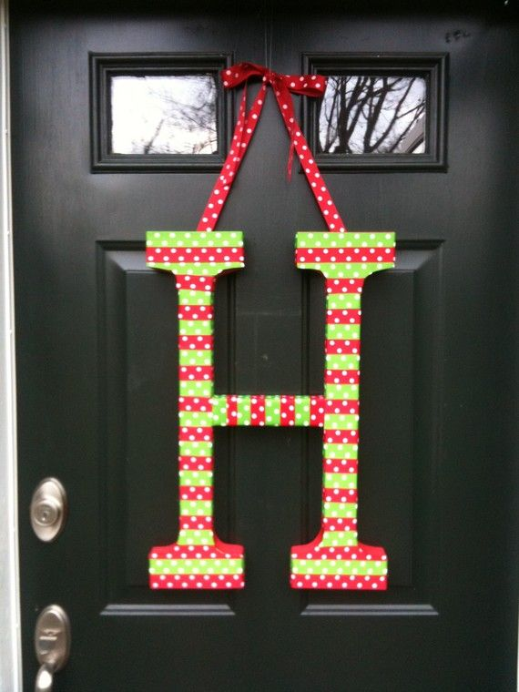 Custom Holiday Door Decoration, different colors available ...