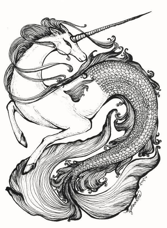 Mer-Unicorn by ~feanne on deviantART | Hippocamp ...