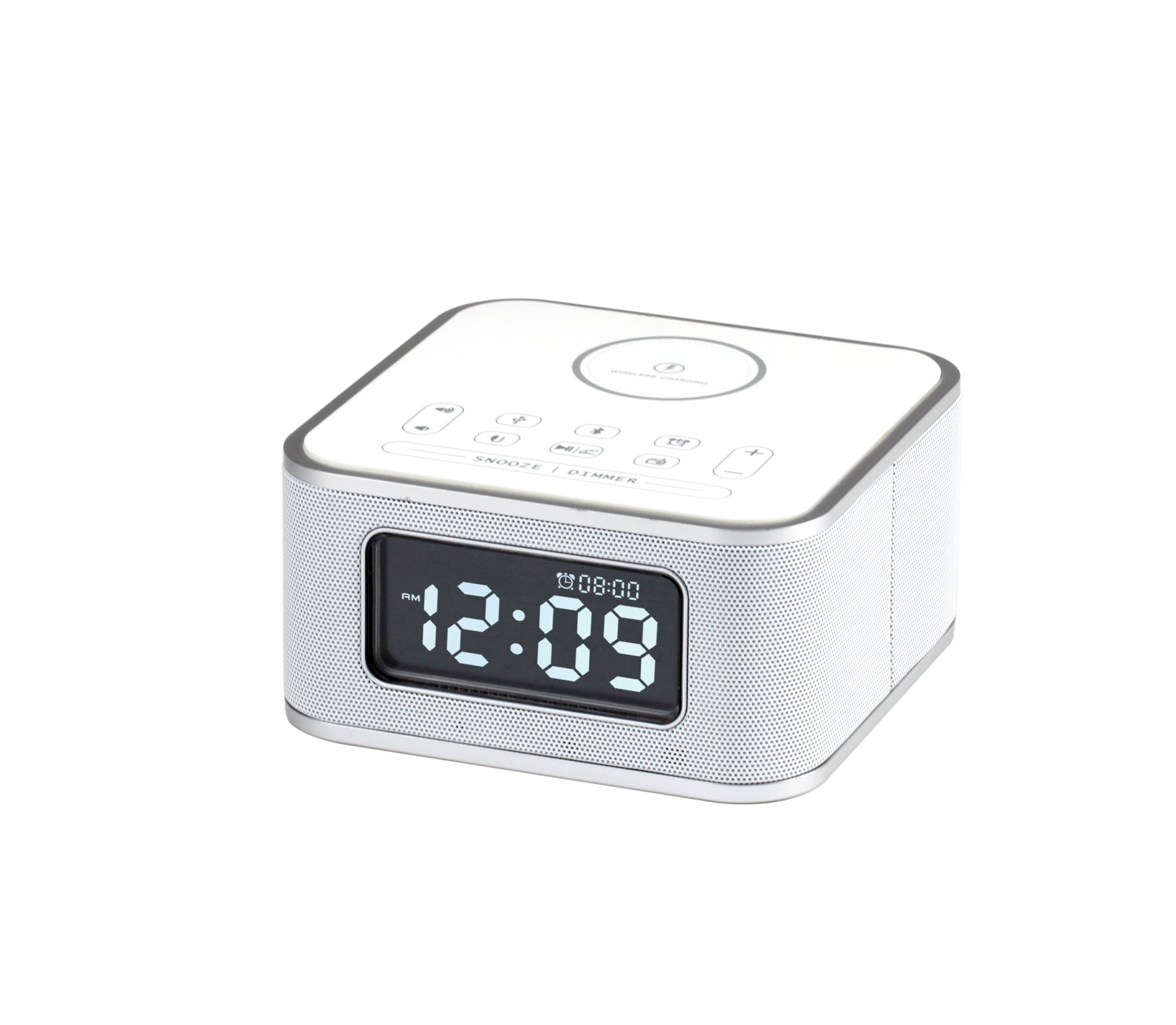 Wireless Charging Alarm Clock Radio For Bedroom Wireless Charger Compatible Iphone X Iphone 8 With Bluetooth Speaker Usb Charging Fm Radio Loud Alarm For He In 2020 Radio Alarm Clock Alarm