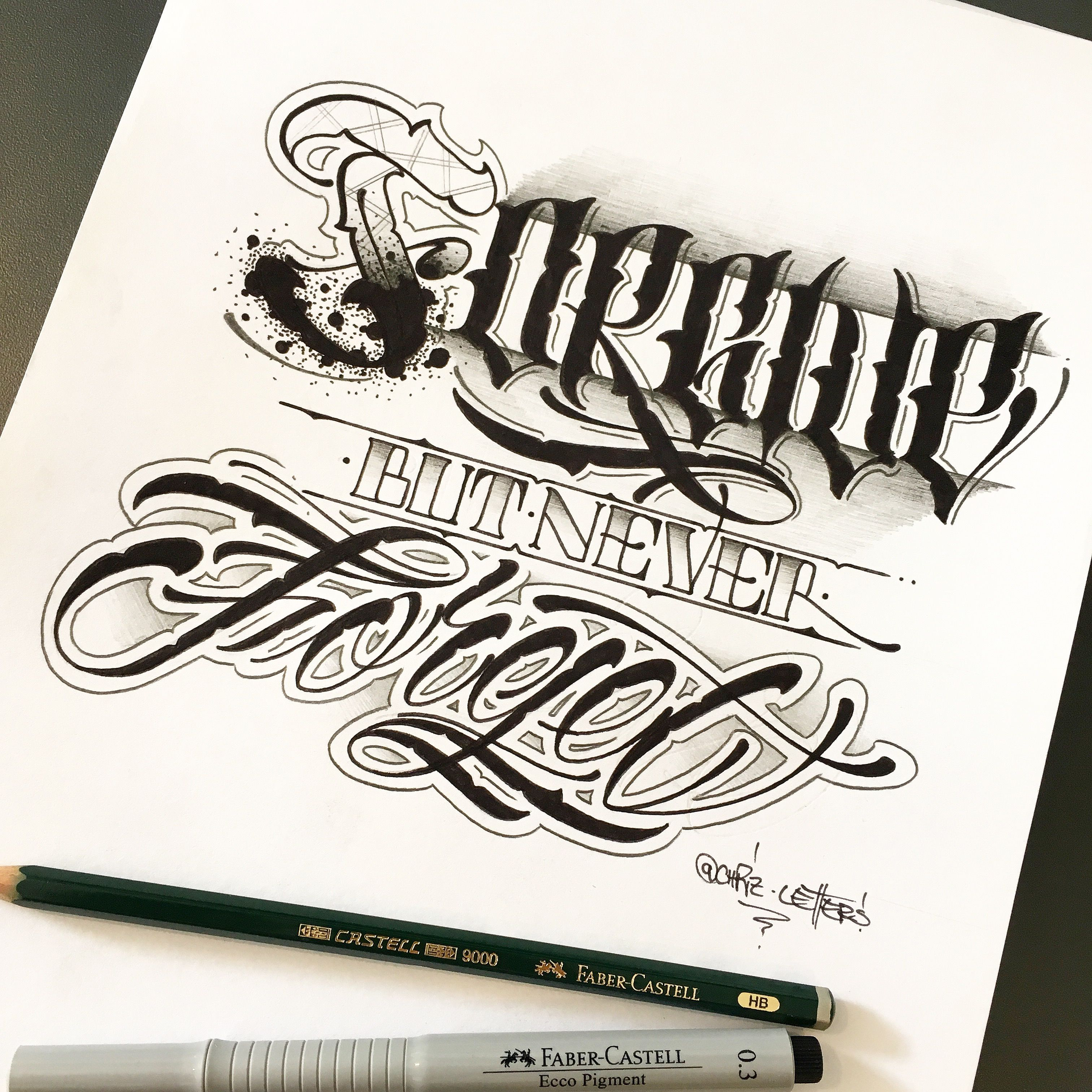 100 Tattoo Lettering Designs For Your Body Art: Forgive But Never Forget