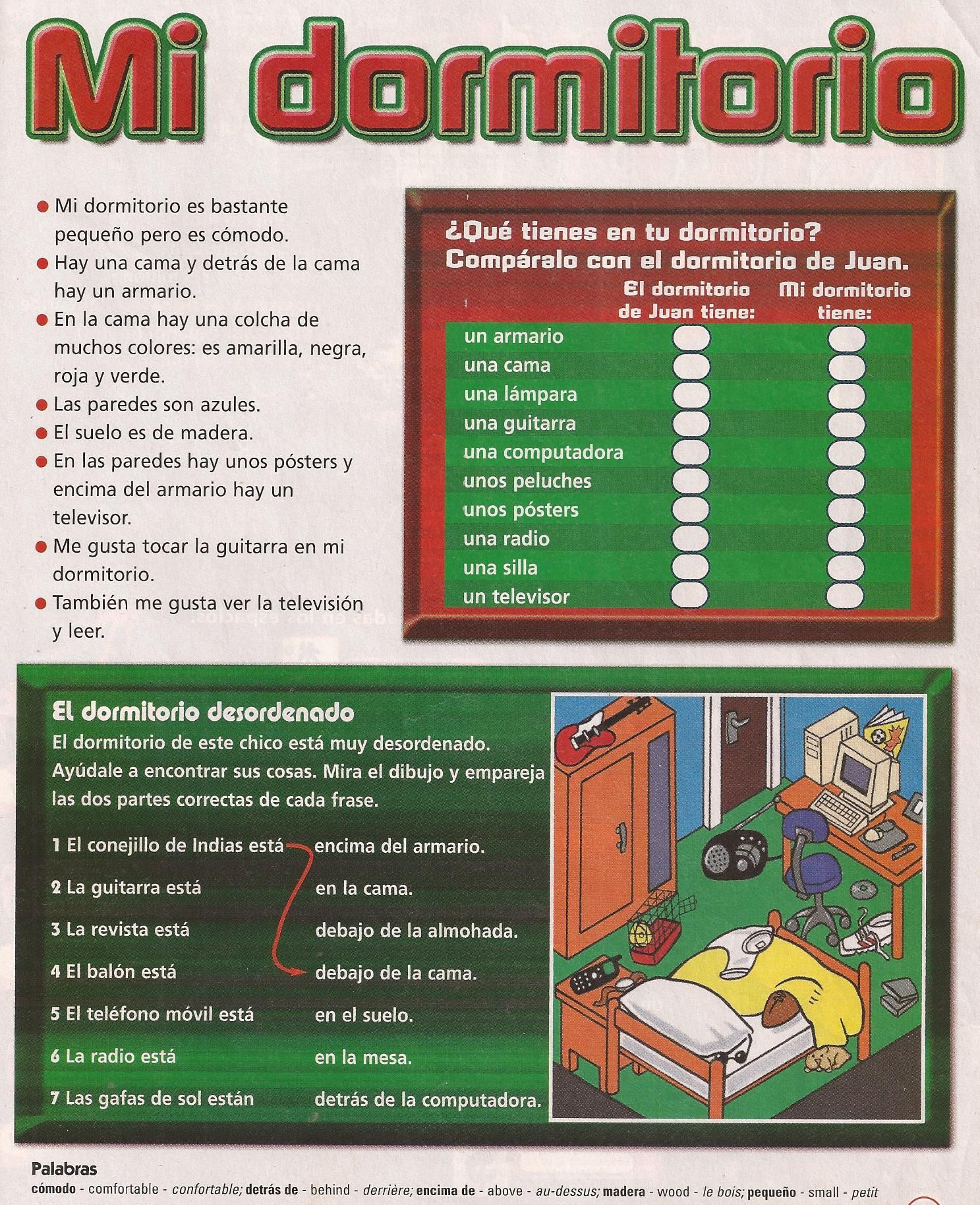 Infografía sobre el léxico de la casa: sus partes y objetos (muebles ...