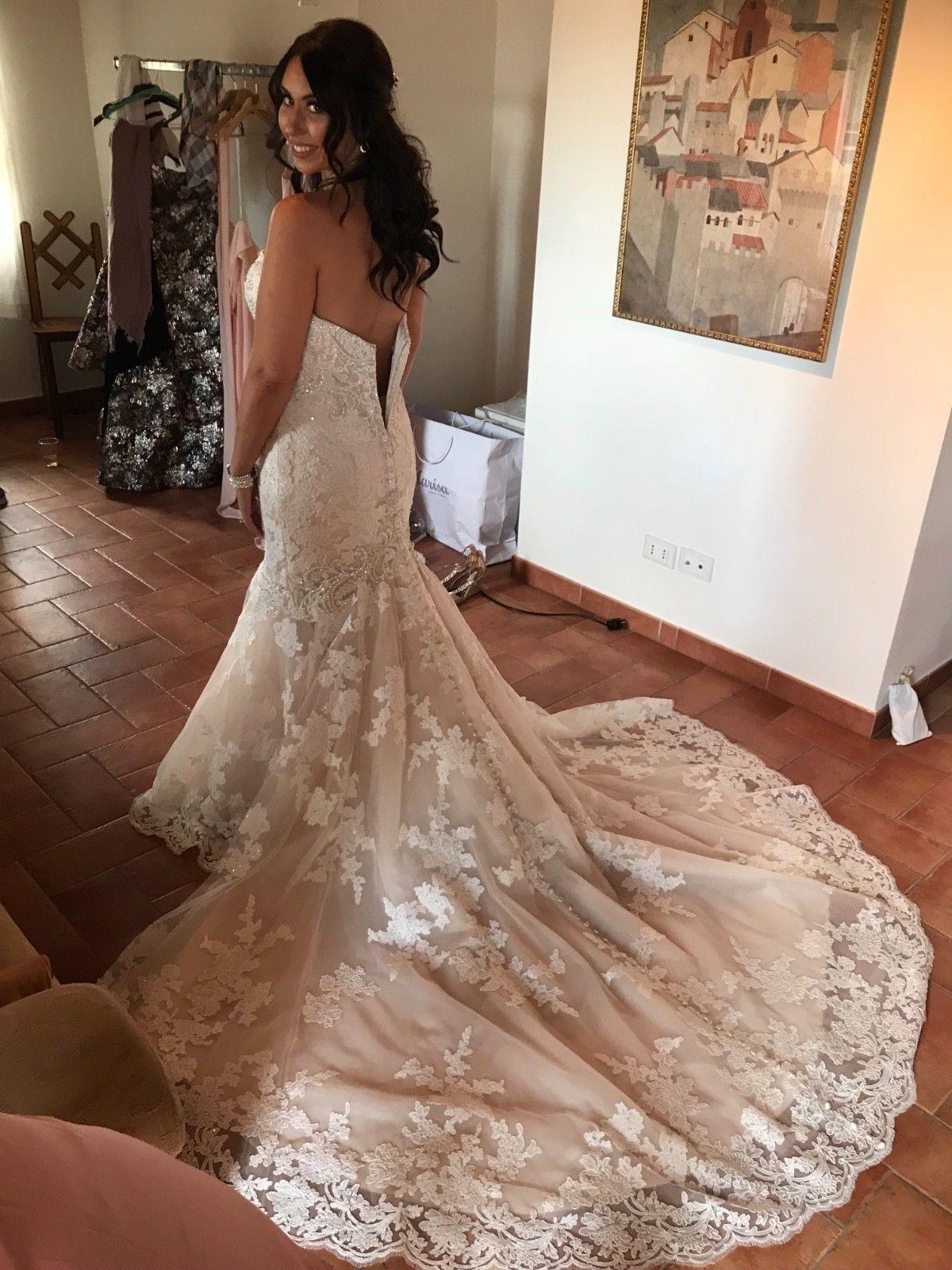 Details about kleinfeld exclusive danielle caprese wedding dress