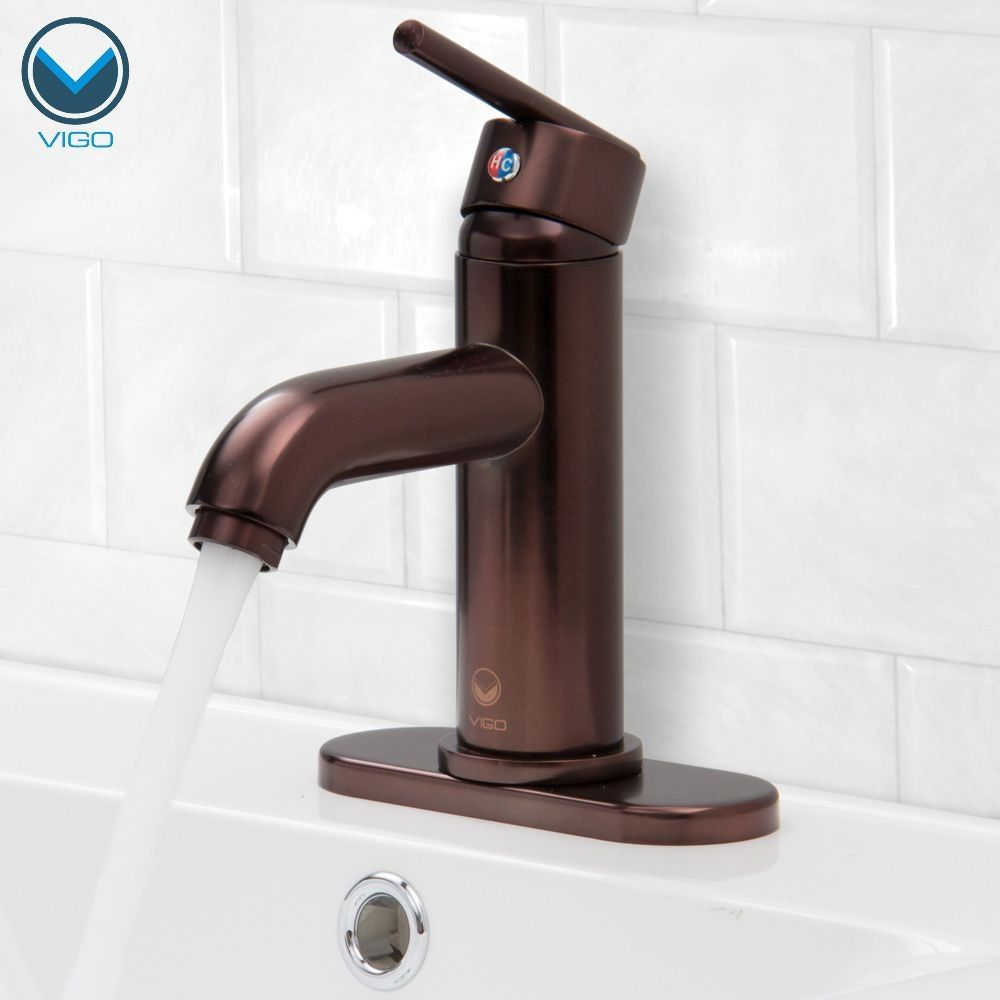 Vigo Industries VG01038RBK1 Universal Single Lever Handle Faucet ...
