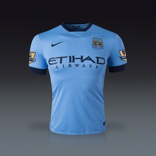 Nike Vincent Kompany Manchester City Home Jersey 14/15 | SOCCER.COM