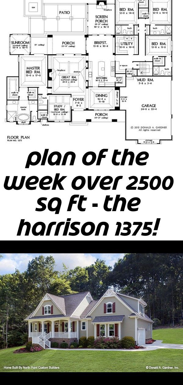 Plan of the week over 2500 sq ft  the harrison 1375 3378 sq ft 5 beds 5 baths 2 Plan of the Week over 2500 sq ft  The Harrison 1375 3378 sq ft 5 beds 5 baths House Plan T...