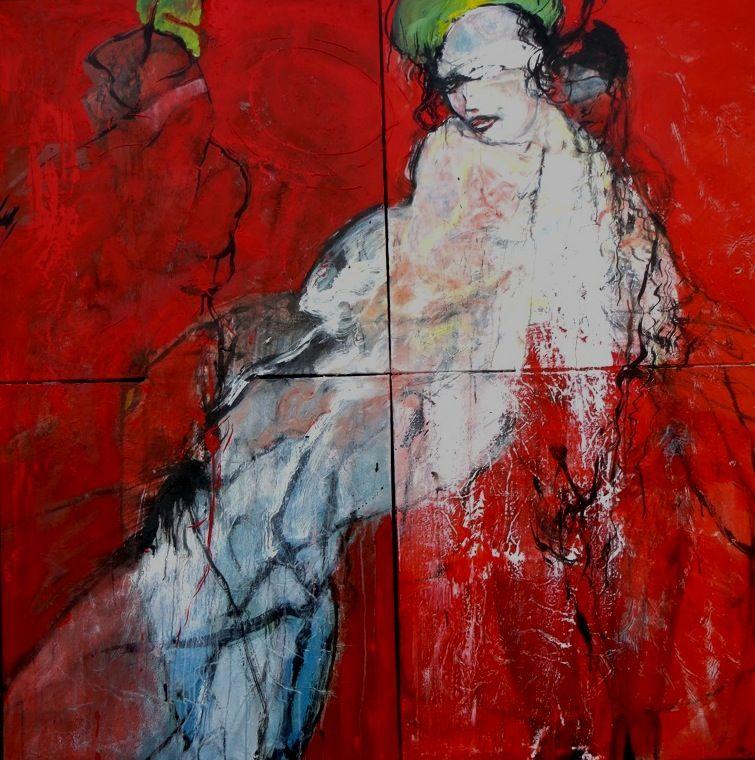 Flo et Adam rêve 180x180 acry sur toile  gegout©adagp2014
