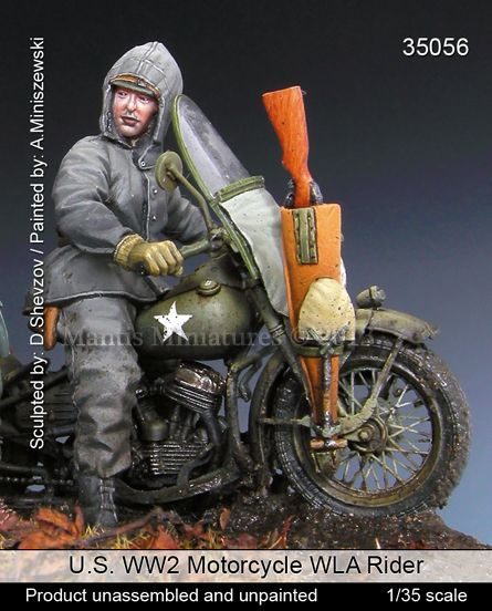 American Biker in 1/35 scale resin from Mantis Miniatures. Now in stock