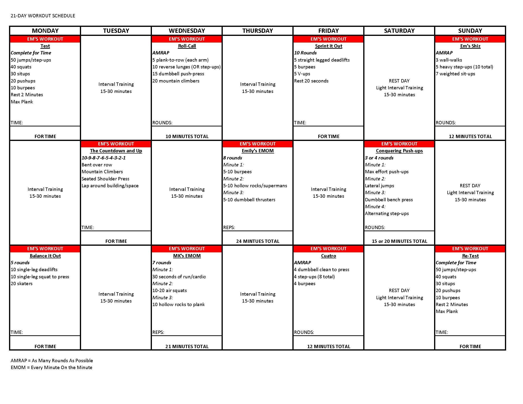 This Is The Training Schedule From Most Recent 5 4 24 Superhero Challenge By Emily Schromm 21daysuperherochallenge Beyourownsuperhero