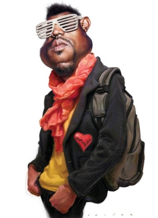 Kanye West Caricature Celebrity Caricatures Funny Caricatures Caricature