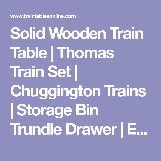 Solid Wooden Train Table | Thomas Train Set | Chuggington Trains ...