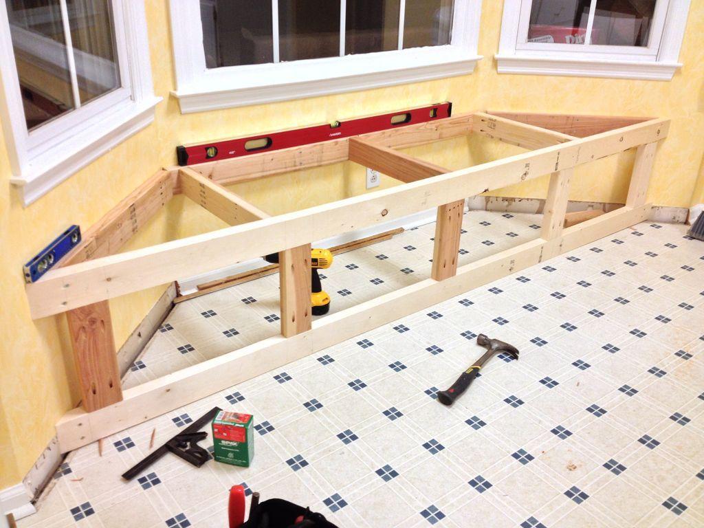 Build a window seat with storage window seat kitchen