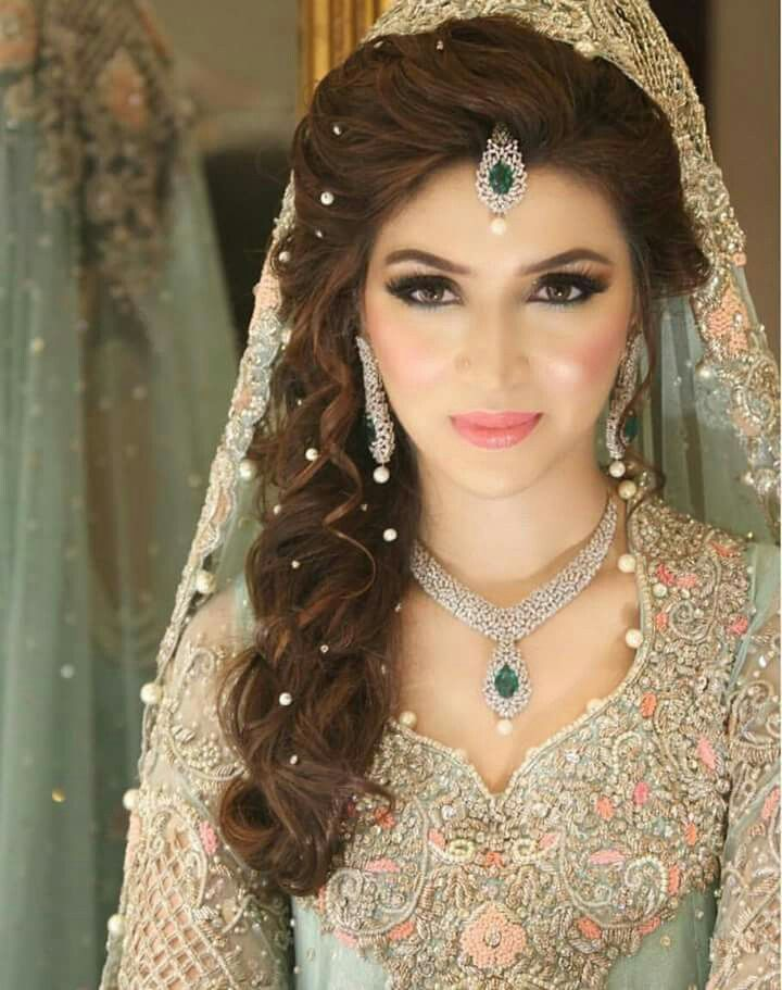 Side Swept Hair For Engagement Hair Looks Pakistani