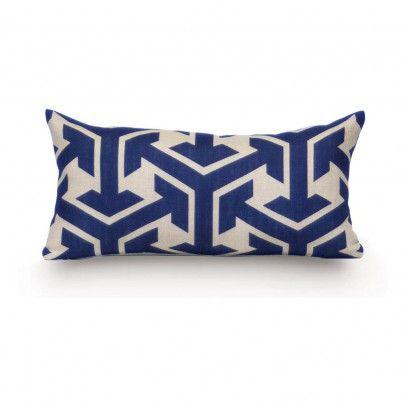 Ostend Cushion 23x47 cm Blue  Rouge du Rhin
