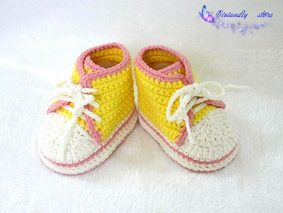 2644051bea2 Crochet baby sneakers handmade converse shoes baby infant shoes for girls crochet  baby shoes knitting shoes