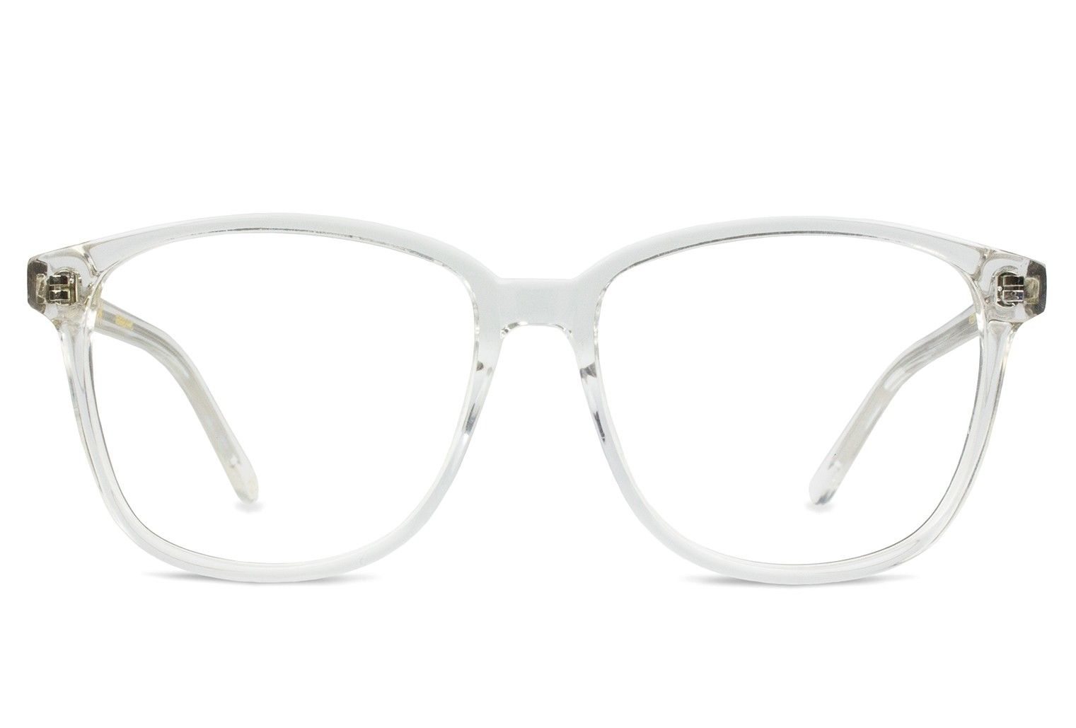 55a3a36c2f KEEN Square Eyeglasses - Vint   York Oversized Transparent Clear Acetate  Plastic 55-16