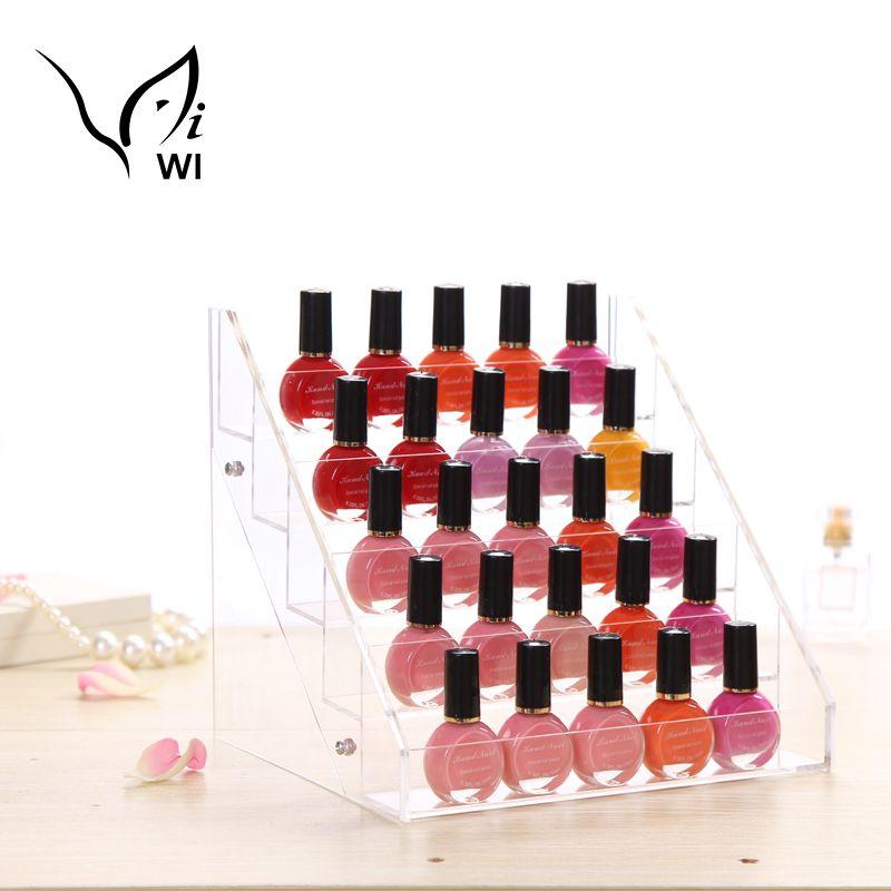 Fashion Storage Case Makeup Nail Polish Jewelry Organizer Rack ...