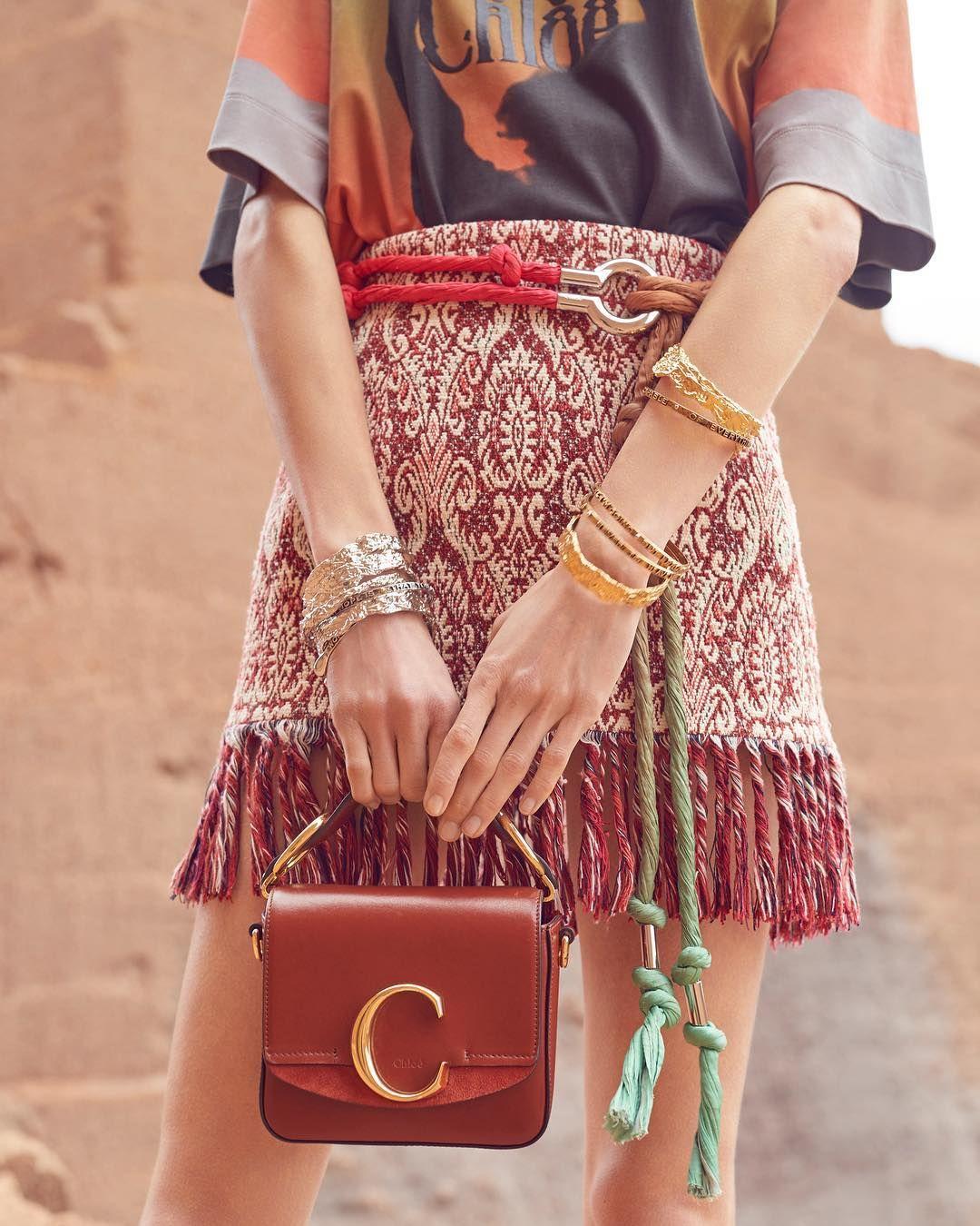 "f1861c3273b4 Chloé on Instagram  ""The Mini Chloé C Bag accompanies the hippie modernist  vision of"