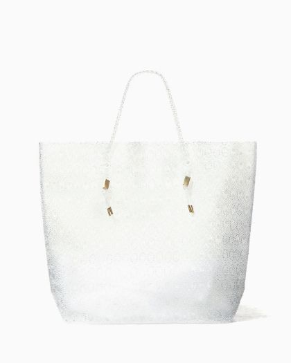Beads Sheet Big Tote - clear
