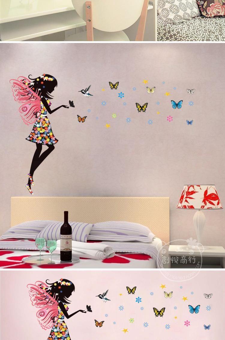 Home Decor Mirror Wall Stickers Fairy Blow Stars Waterproof Crystal Wall Sticker