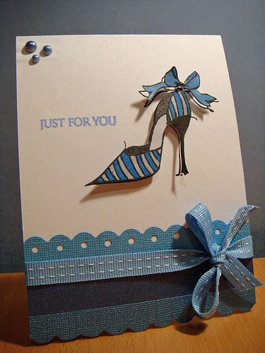 For You Shoe By Simone Naoum Via Flickr Stamped Cards Creative Cards Greeting Cards Handmade