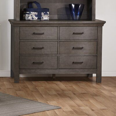 Harriet Bee Edda 6 Drawer Double Dresser | Wayfair