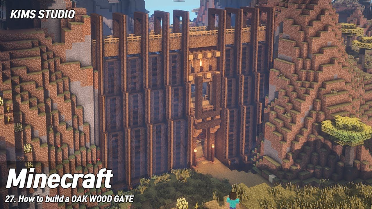 Minecraft tutorial: How to build a Canyon Wood Gat