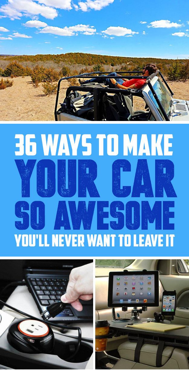 Things That Will Make Riding In Your Car So Much Better Cars - Make a cool car