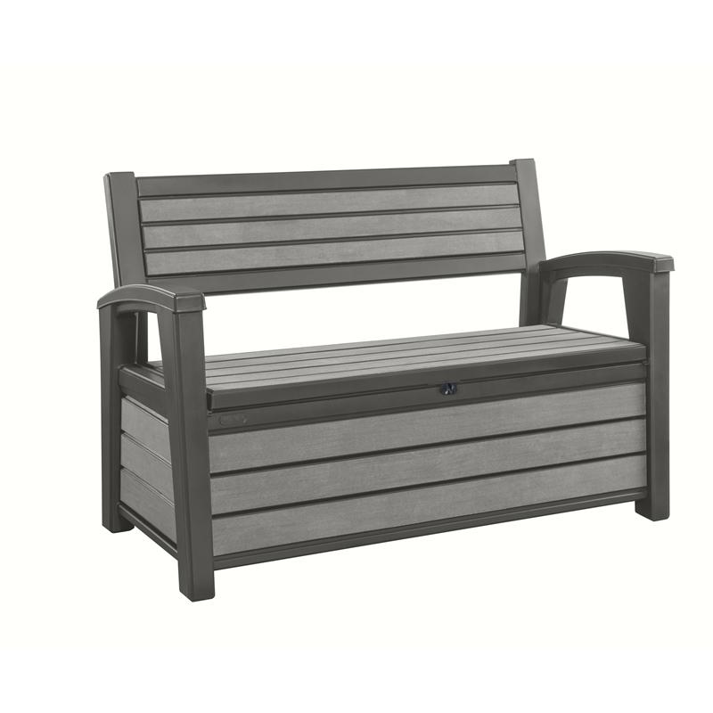 Keter 227l Hudson Outdoor Storage Bench Patio Storage Outdoor Storage Bench Deck Box Storage Bench