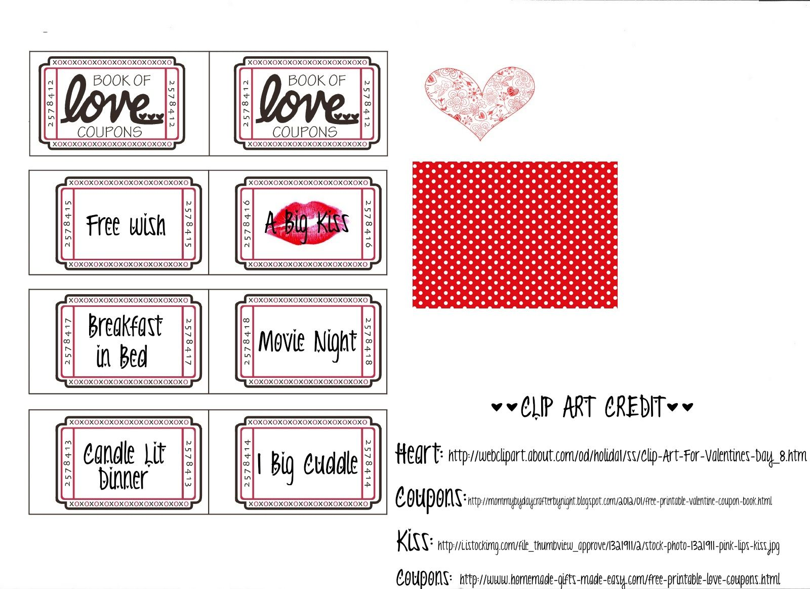 Boyfriend Coupon Book Ideas  ValentineS Day    Diy