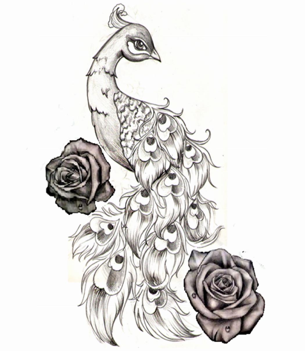 Cadeau Tata 21 août Half sleeve tattoos designs, Peacock