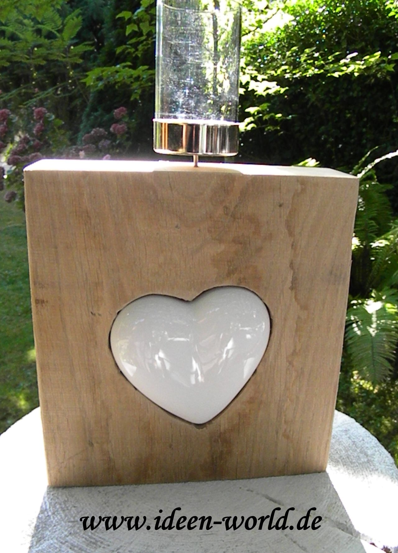 Unikat Eiche Holzblock Mit Einem Herz Aus Keramik Mit Bildern