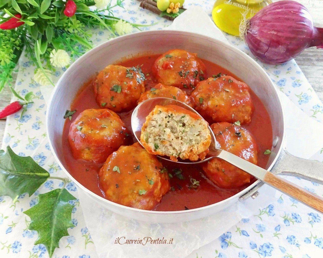Polpette Di Pesce Spada Al Sugo Ricetta Il Cuore In Pentola Ricetta Nel 2020 Ricette Salsa Per Polpette Polpette