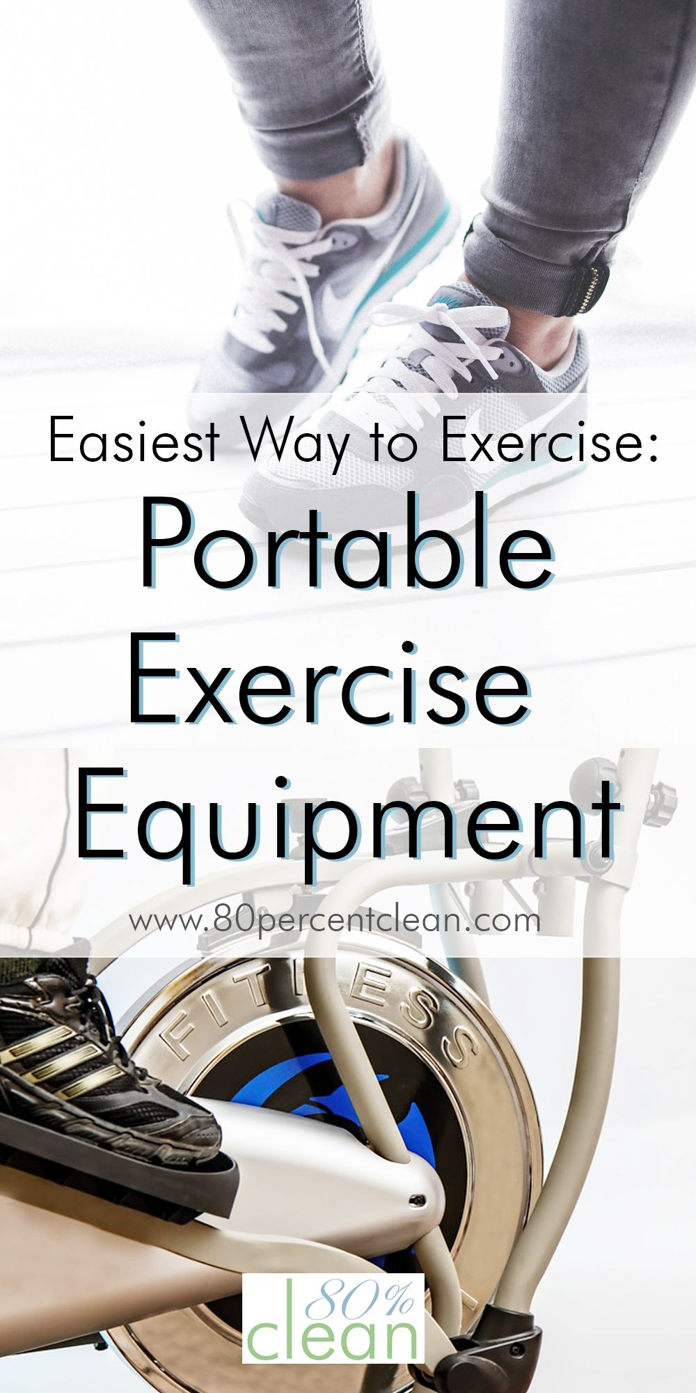 Great idea! Having portable exercise equipment around is a perfect solution to actually get me off the couch! The portable elliptical is especially interesting.