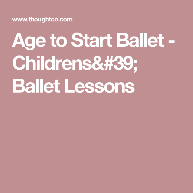 What's A Good Age For A Child To Begin Taking Ballet Classes?