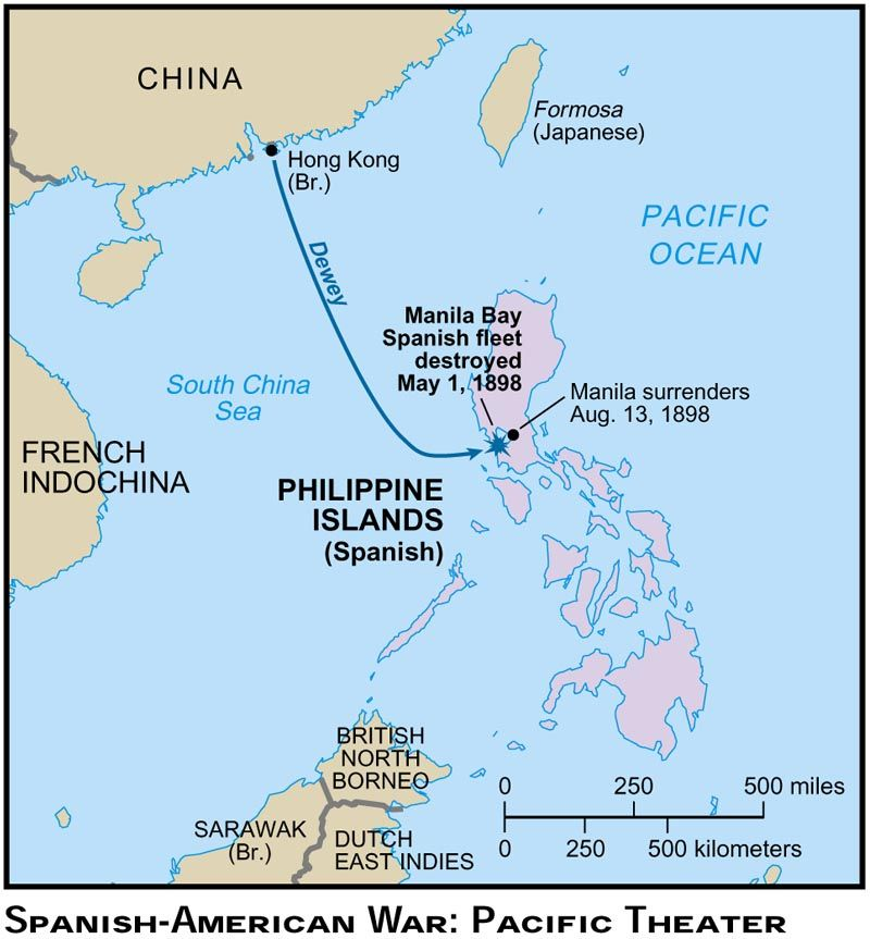 Spanish Philippines Map.American Victory In The Asian Pacific Spanish American War The
