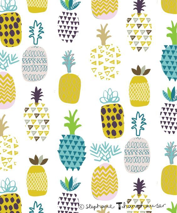 Pin by ikea is on background pinterest ananas - Ananas dessin ...