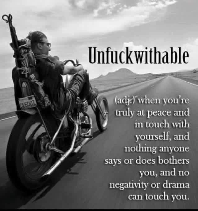 Unfuckwithable Bike Quotes Motorcycle Quotes Biker Quotes