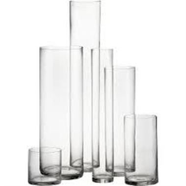 Glass Cylinder Vase 30x10cm Wholesale Flowers Florist Supplies