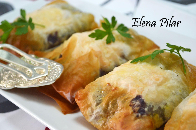 Il mio libro di cucina di Elena Pilar: Foil-Pack cavolo con salmone in pasta fillo (Bimby)