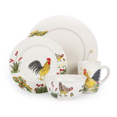 Paula Deen® Southern Rooster 16-Piece Dinnerware Set at Big Lots. 3 sets  sc 1 st  Pinterest & Paula Deen® Southern Rooster 16-Piece Dinnerware Set at Big Lots. 3 ...