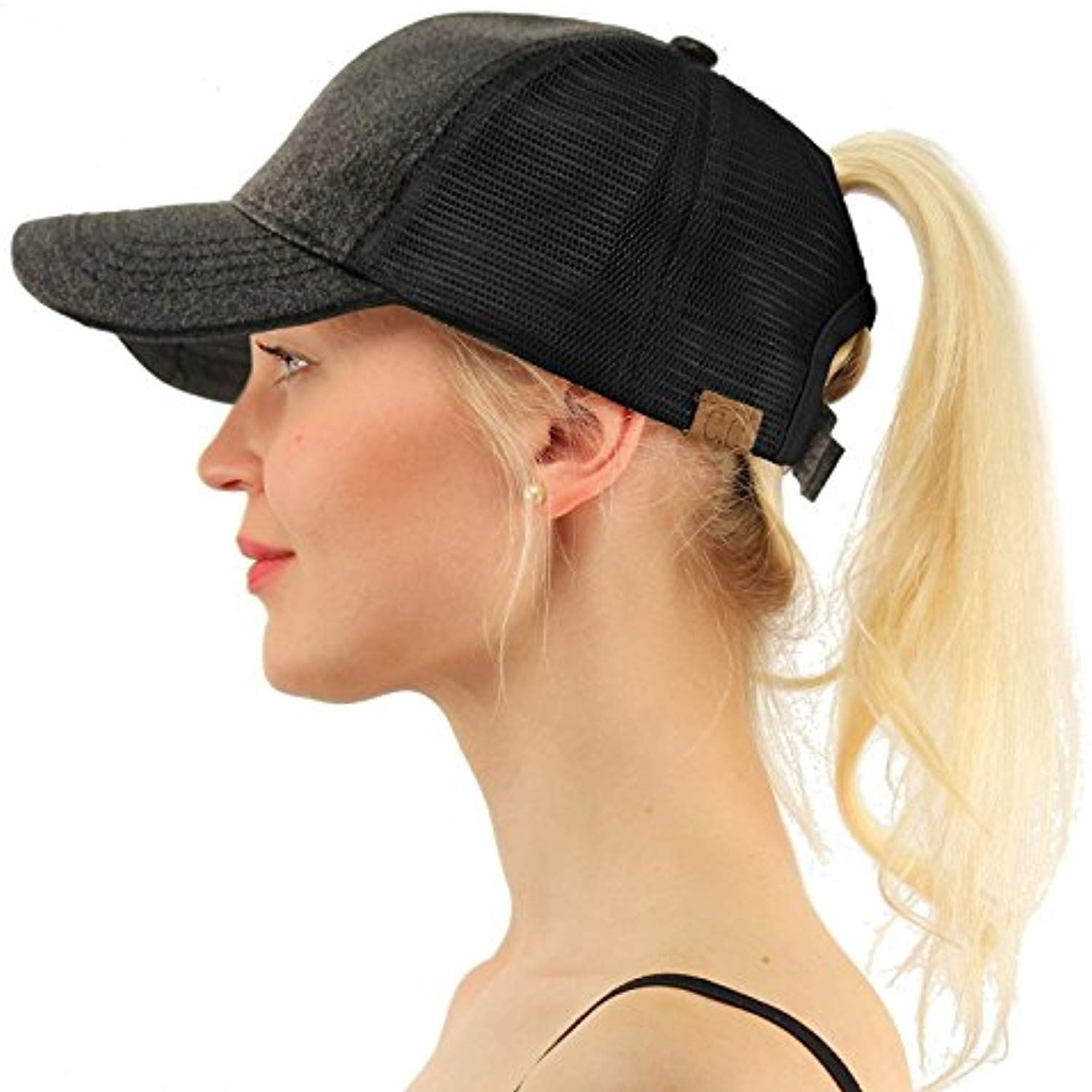 Ponytail Messy Buns Trucker Ponycaps Plain Baseball Visor Cap Dad Hat    Click image for more details. (This is an affiliate link) c3e6504e63d5