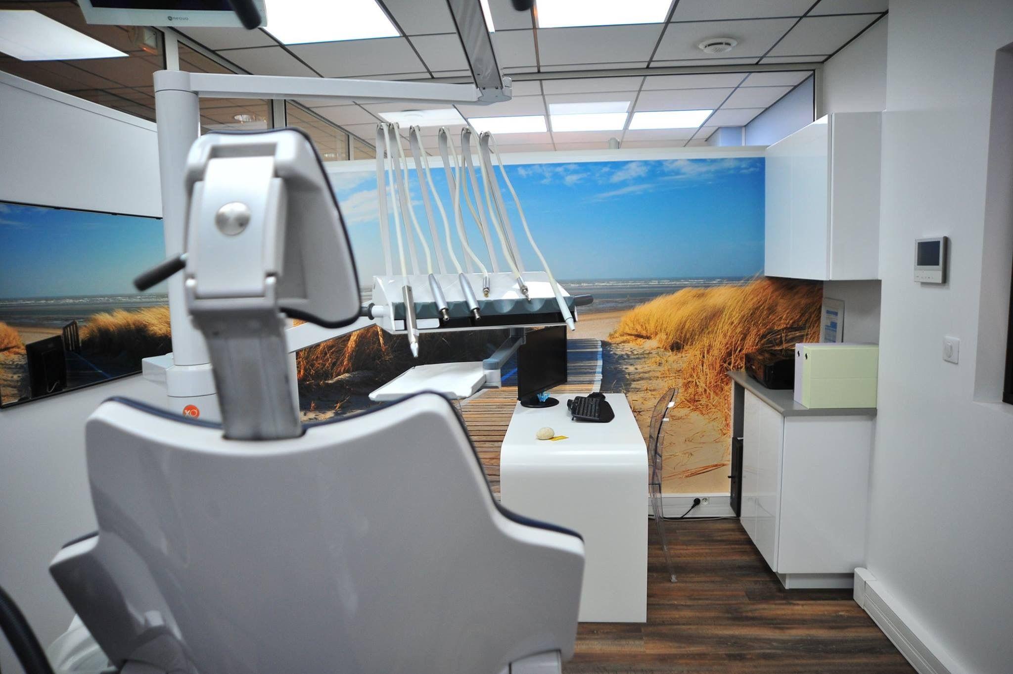 Décoration d\'un cabinet dentaire, papier peint XXL, decoratrice ...