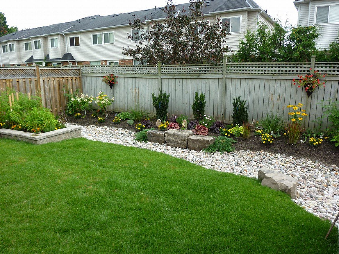 Inexpensive landscape ideas for backyards photo gallery for Small backyard landscaping