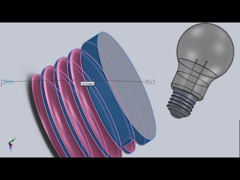 Solidworks Tutorial 27 Light Bulb E27 Modelling Assembly Part1 2 Solidworks Tutorial Solidworks Sketches Tutorial