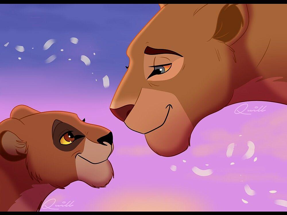 567e83661 Nala and her granddaughter Kiara And Kovu, Lion Cat, Lion Drawing, Lion King