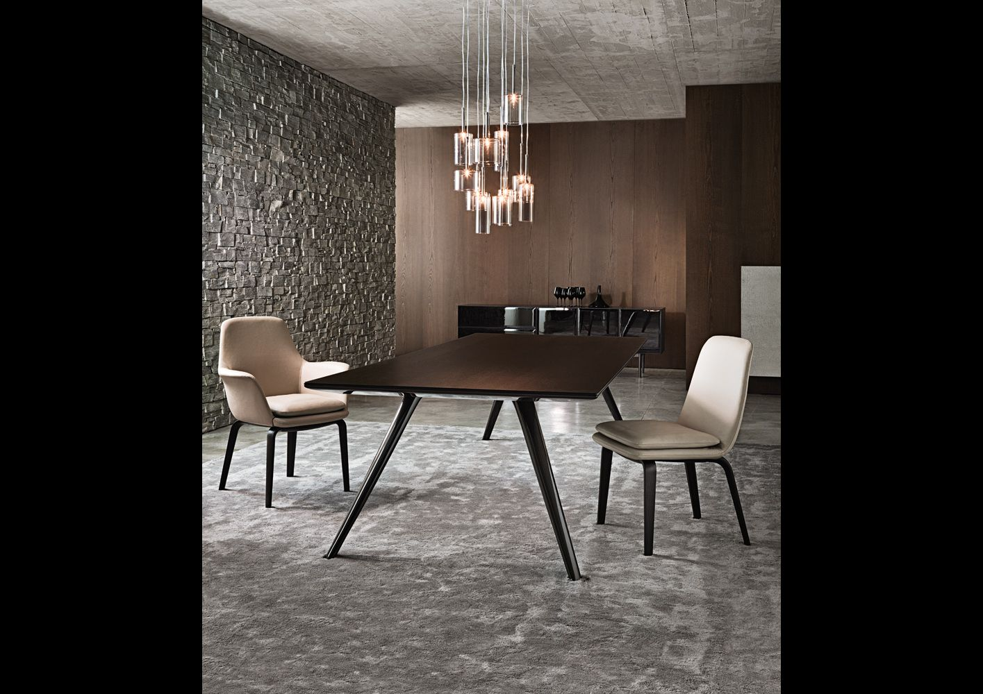 Evans table minotti salle a manger pinterest for Dining area furniture